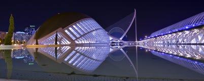 Η πόλη των τεχνών και των επιστημών της Βαλέντσιας στοκ εικόνες