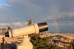 η πόλη φαίνεται τηλεσκόπιο Στοκ φωτογραφίες με δικαίωμα ελεύθερης χρήσης