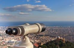η πόλη φαίνεται τηλεσκόπι&omicron Στοκ Εικόνα