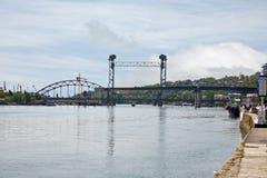 η πόλη φορά τον ποταμό rostov Στοκ Εικόνες