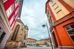Η πόλη Meiningen σε Thuringia Γερμανία στοκ φωτογραφία με δικαίωμα ελεύθερης χρήσης