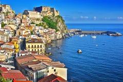 Η πόλη Scilla στην επαρχία Reggio Καλαβρία, Ιταλία Στοκ Εικόνες