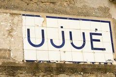 Η πόλη Ujue Στοκ Εικόνες