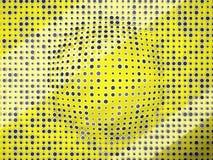 Η Πόλκα διαστίζει το σχέδιο με τους μαύρους κύκλους και την πρόσκρουση σε κίτρινο ελεύθερη απεικόνιση δικαιώματος