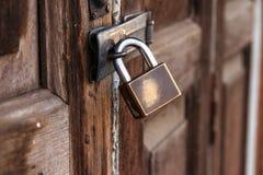 η πόρτα κλείδωσε παλαιό Στοκ Φωτογραφία