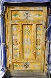 Η πόρτα με το παραδοσιακό mogolian σχέδιο Στοκ Φωτογραφίες