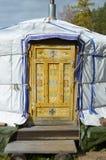 Η πόρτα με το παραδοσιακό mogolian σχέδιο Στοκ φωτογραφία με δικαίωμα ελεύθερης χρήσης