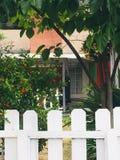 Η πόρτα πίσω από το φράκτη στοκ φωτογραφία με δικαίωμα ελεύθερης χρήσης