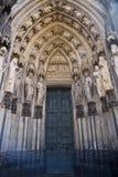 Η πόρτα του καθεδρικού ναού της Κολωνίας Στοκ Εικόνες