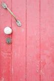 η πόρτα χρωμάτισε το ροζ Στοκ Φωτογραφία