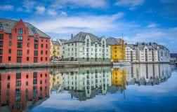 Η πόλη Ã… lesund Στοκ εικόνα με δικαίωμα ελεύθερης χρήσης