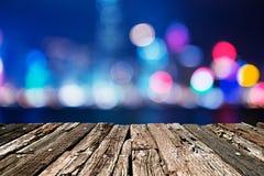 Η πόλη ανάβει το μεγάλο αφηρημένο κυκλικό bokeh Στοκ Εικόνες