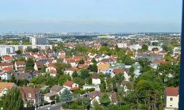 Η πόλη από τον ουρανό Στοκ Φωτογραφίες