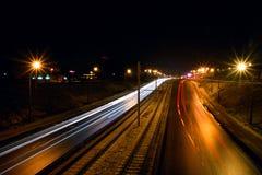 Η πόλη δεν κοιμάται Στοκ Φωτογραφίες