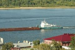 Η πόλη στον ποταμό Oka Στοκ φωτογραφία με δικαίωμα ελεύθερης χρήσης