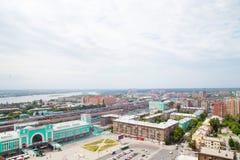 Η πόλη της Σιβηρίας Novosibirsk στοκ εικόνες