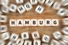 Η πόλη του Αμβούργο Γερμανία χωρίζει σε τετράγωνα την επιχειρησιακή έννοια Στοκ Φωτογραφίες