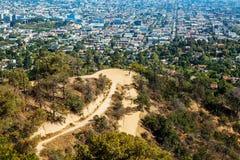 Η πόλη του Λος Άντζελες όπως βλέπει από Griffith το πάρκο στοκ εικόνα με δικαίωμα ελεύθερης χρήσης