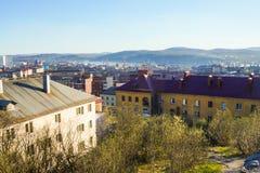 Η πόλη του Μούρμανσκ Στοκ Φωτογραφίες