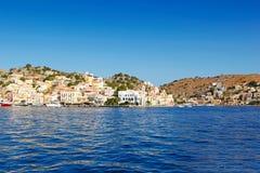 Η πόλη του νησιού Symi στην Ελλάδα Στοκ φωτογραφία με δικαίωμα ελεύθερης χρήσης