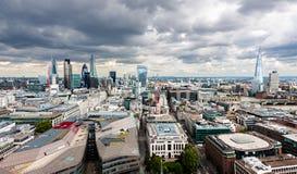 Η πόλη του πανοράματος του Λονδίνου Στοκ Φωτογραφίες