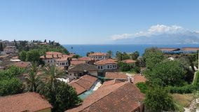 Η πόλη Antalya όπως βλέπει στο Oldtown Kaleici Στοκ φωτογραφία με δικαίωμα ελεύθερης χρήσης