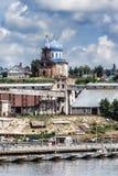 Η πόλη Birsk Άποψη της εκκλησίας του ST Michael το Archang Στοκ Εικόνες