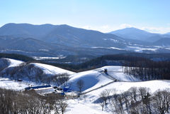 Χιονώδες βουνό στη Νότια Κορέα Στοκ εικόνες με δικαίωμα ελεύθερης χρήσης