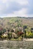Η πόλη Stresa στη λίμνη Maggiore στοκ φωτογραφία
