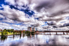 Η πόλη UmeÃ¥, Σουηδία Στοκ Φωτογραφίες