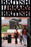 Η πύλη εισόδων της βρετανικής βιβλιοθήκης Στοκ φωτογραφία με δικαίωμα ελεύθερης χρήσης