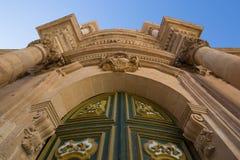 Η πύλη της εκκλησίας SAN Michele Arcangelo σε Scicli Στοκ εικόνα με δικαίωμα ελεύθερης χρήσης