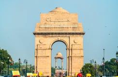 Η πύλη της Ινδίας, ένα πολεμικό μνημείο στο Νέο Δελχί, Ινδία στοκ εικόνες με δικαίωμα ελεύθερης χρήσης
