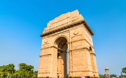 Η πύλη της Ινδίας, ένα πολεμικό μνημείο στο Νέο Δελχί, Ινδία στοκ εικόνες