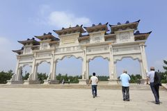 Η πύλη του khan μαυσωλείου genghis, πλίθα rgb στοκ εικόνα με δικαίωμα ελεύθερης χρήσης