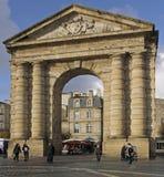 Η πύλη Aquitaine στο τετράγωνο νίκης στο Μπορντώ στοκ φωτογραφία