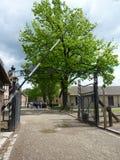 Η πύλη εισόδων σε ένα στρατόπεδο συγκέντρωσης aurthur Στοκ φωτογραφία με δικαίωμα ελεύθερης χρήσης