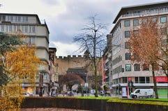 Η πύλη πόλεων το Hahnentorburg, Κολωνία Στοκ εικόνα με δικαίωμα ελεύθερης χρήσης
