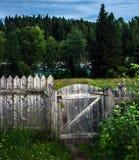 Η πύλη στο φράκτη Στοκ φωτογραφίες με δικαίωμα ελεύθερης χρήσης