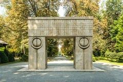 Η πύλη του φιλιού (Poarta Sarutului) Στοκ φωτογραφίες με δικαίωμα ελεύθερης χρήσης