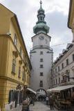 Η πύλη του Michael ` s στη Μπρατισλάβα στοκ εικόνα με δικαίωμα ελεύθερης χρήσης