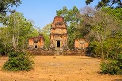 Η πύλη Angkor wat του angkor thom bayon bakong bapoun siem συγκεντρώνει το βασίλειο της Καμπότζης της κατάπληξης Στοκ Φωτογραφία