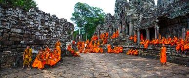 Η πύλη Angkor wat του angkor thom bayon bakong bapoun siem συγκεντρώνει το βασίλειο της Καμπότζης της κατάπληξης Στοκ Εικόνες