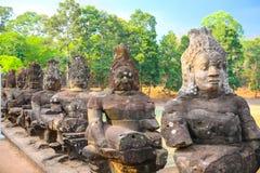 Η πύλη Angkor wat του angkor thom bayon bakong bapoun siem συγκεντρώνει το βασίλειο της Καμπότζης της κατάπληξης Στοκ Εικόνα