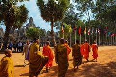 Η πύλη Angkor wat του angkor thom bayon bakong bapoun siem συγκεντρώνει το βασίλειο της Καμπότζης της κατάπληξης Στοκ φωτογραφίες με δικαίωμα ελεύθερης χρήσης
