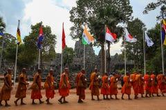Η πύλη Angkor wat του angkor thom bayon bakong bapoun siem συγκεντρώνει το βασίλειο της Καμπότζης της κατάπληξης Στοκ Φωτογραφίες