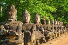 Η πύλη Angkor wat του angkor thom bayon siem συγκεντρώνει το βασίλειο της Καμπότζης της κατάπληξης Στοκ φωτογραφία με δικαίωμα ελεύθερης χρήσης