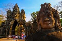 Η πύλη Angkor wat του angkor thom bayon siem συγκεντρώνει το βασίλειο της Καμπότζης της κατάπληξης Στοκ εικόνες με δικαίωμα ελεύθερης χρήσης