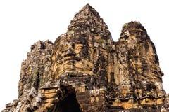 Η πύλη Thom Angkor στο άσπρο υπόβαθρο, Siem συγκεντρώνει, Καμπότζη Στοκ Εικόνα