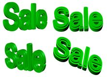Η πώληση υπογράφει τρισδιάστατο Στοκ εικόνα με δικαίωμα ελεύθερης χρήσης
